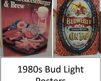 Posters Budweiser and bud light