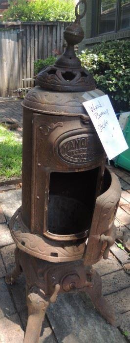 Stove antique wood burning
