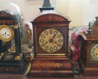 Clocks run from small classic styles to ornate French. More photos to come.