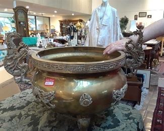 Large brass plant stand just released by attorney for an estate.