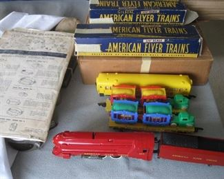 Circus Train Set made by American Flyer that is in excellent shape and includes the Instructions, Transformer and Track and some boxes (1949)