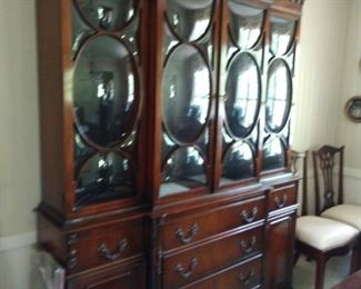 Beautiful antique china cabinet beautiful unusual glass front