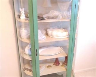 Shabby chic china cabinet great color!