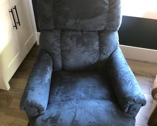 La-Z-Boy blue recliner: $290