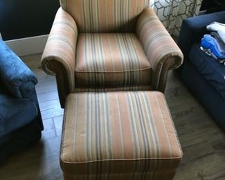 Walter E. Smithe chair and ottoman: Buy it now for $285
