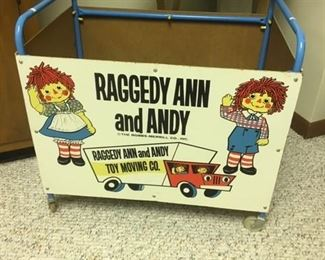 VINTAGE RAGGEDY ANN AND ANDY TOY CART