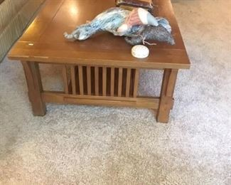 BASSET MISSION OAK STYLE COFFEE TABLE