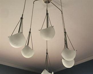 6 light modern chandelier.