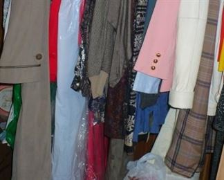 A VERY LARGE AMOUNTS  OF LADIES NEW CLOTHES WITH PRICE TAGS ATTACHED