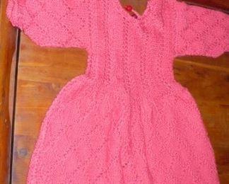 CROCHET CHILD'S DRESS       brings back memories to me