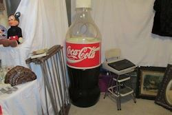 large plastic coke bottle
