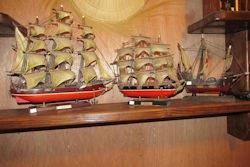 two model clipper ships