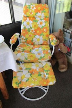 x floral patio chair