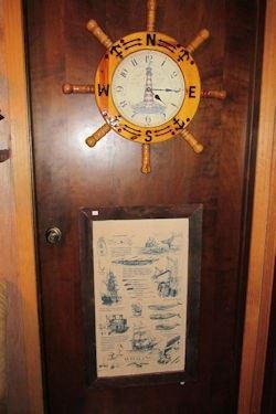 x ships wheel clock