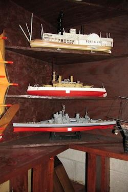 x three more ship models