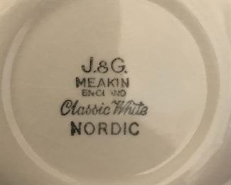 J & G Meakin Classic White Nordic China Set