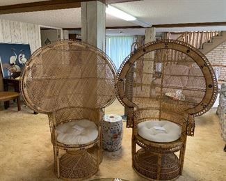 Peacock wicker chairs