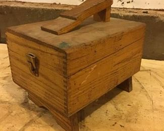 Vintage Shoe Shine Box and Accessories
