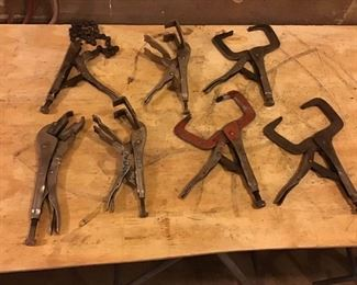 Assortment of Vice Grips