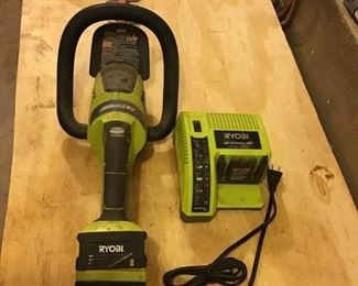 RYOBI Hedge Trimmer and Charger