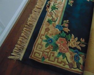 9 X 12 area rug.  Sculpted.