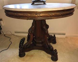 Antique (1800's) Marble Top Palor Table-