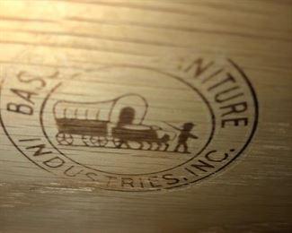 Bass Furniture Stamp on Antique 9 drawer dresser/mirror