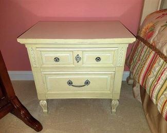 Shabby chic juvenile matching nightstand