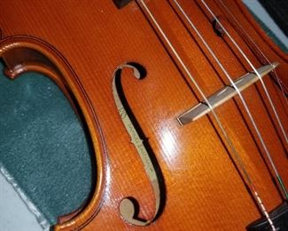 Eastman maker's mark on this violin.