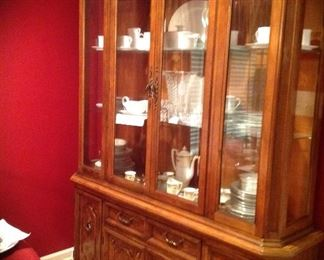 Bernhardt large lighted China cabinet