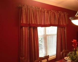Drapes, valance and double rods