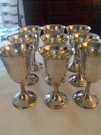 KC sterling goblets
