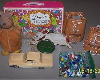 Older toys and marbles