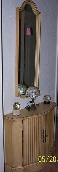 Cabinet w/ matching wall mirror