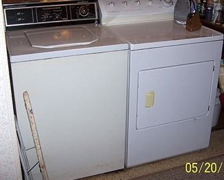 G E washer and Frigidaire dryer