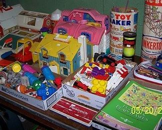 Sample of toys including Fisher Price