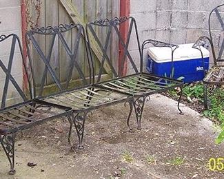 Vintage iron 3 pc. patio sofa and chair (Heavy duty!)