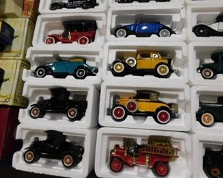 Die cast Ford cars and trucks