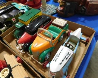 Die cast cars and truck banks