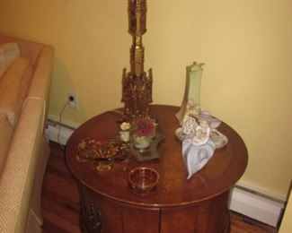 Pair Brass Ornate Lighting