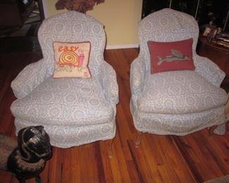 Pair Custom Parlor Seating
