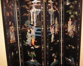 Stunning Asian Room Divider Screen Double Sided