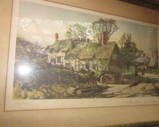 J.R. Hutchinson Ann Hathaways Cottage Prints/Lithographs