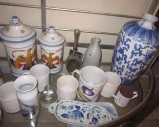 Bakers Rack and Tons of China To Choose From Blue Danube China