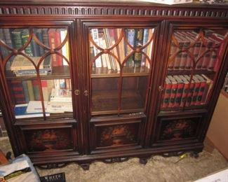 Hand Painted Antique Cabinet & So Many Books