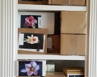 Boxed Porcelain Flowers