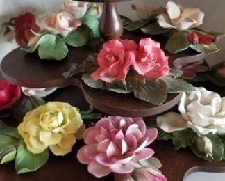 Porcelain Flowers Capidimonte,  Andrea, Mana Hari, E & R Italy