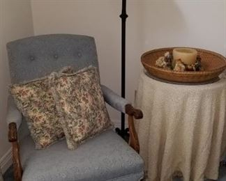 Chair, Floor Lamp