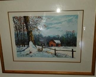 Schofield serigraph COA , Signed and Numbered