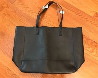 CHICO'S REVERSIBLE BLACK/BROWN TOTE